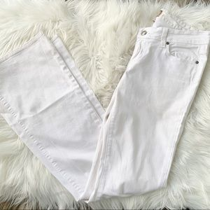 Paige Canyon Flare White Jeans Size 28